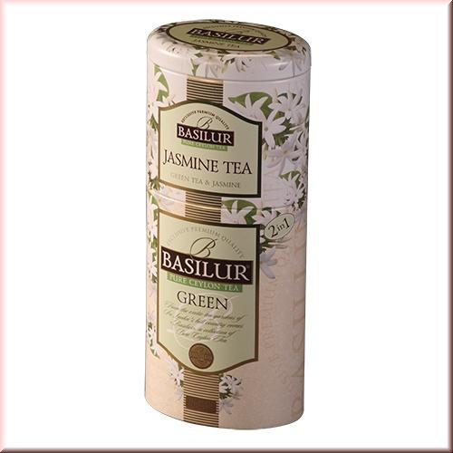 Чай Basilur 125г Цветы и фрукты Зеленый + Жасмин  2 в 1 ж/б