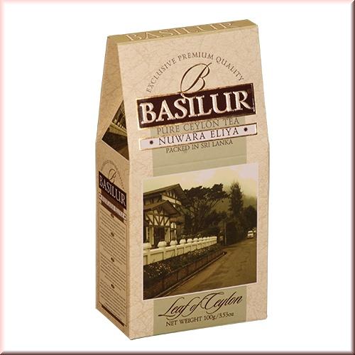 Чай Basilur картон 100г  Лист Цейлона  Нувара Элия