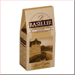 Чай Basilur картон 100г  Лист Цейлона Канди