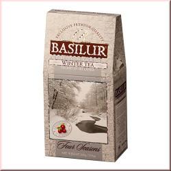 Чай Basilur картон 100г  4 сезона Зимний с клюквой