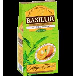 Чай Basilur картон 100г  В. фрукты  Дыня и Банан