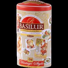 Чай Basilur 100г Винтаж Счастливое рождество ж/б