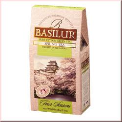 Чай Basilur картон 100г  4 сезона Весенний