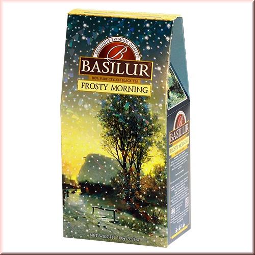 Чай Basilur картон 100г  Подарочная  Морозное утро