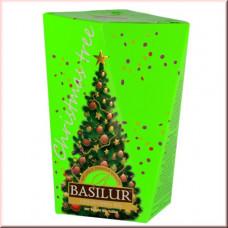 Чай Basilur картон 85г Рождественская елка Зеленая