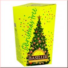 Чай Basilur картон 85г Рождественская елка Желтая