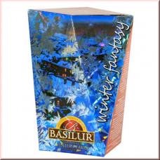 Чай Basilur картон 85г Зимняя фантазия Зимняя снежинка