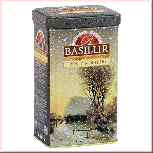 Чай Basilur 85г Подарочная  Морозное утро  ж/б