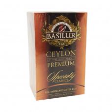 Чай Basilur картон пакет Избр. классика  Цейлонский ОР  25 пак (саше)