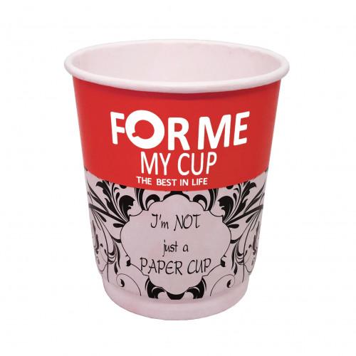 Стакан      картонный     210мл     Двухслойный Турция (My Cup) Red