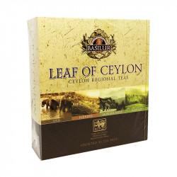 Чай Basilur картон пакет Лист Цейлона  Ассорти 40 пак (саше)