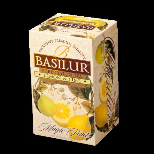 Чай Basilur картон пакет В. фрукты  Лимон+Лайм 100 пак