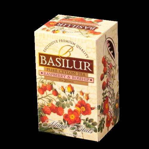Чай Basilur картон пакет В. фрукты Малина+Шиповник  20 пак