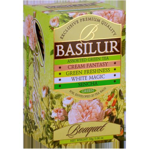 Чай Basilur картон пакет Букет Ассорти  20 пак (саше)