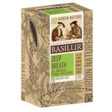 Чай Basilur картон пакет  Природная Коллекция Глибокий подих  20пак