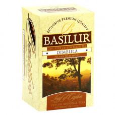 Чай Basilur картон пакет Лист Цейлона  Димбула  25 пак (саше)