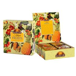 Чай Basilur картон пакет В. фрукты Черный  Ассорти 40 пак (саше)