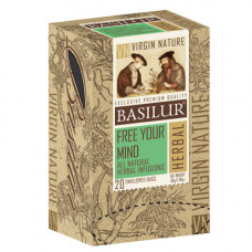 Чай Basilur картон пакет  Природная Коллекция Звільни свій розум 20пак