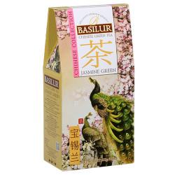 Чай Basilur картон 100г  Китайская Зеленый жасмин