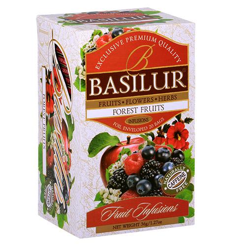 Чай Basilur картон пакет Фруктовые  Коктейли  Лесные Фрукты  25пак (саше)