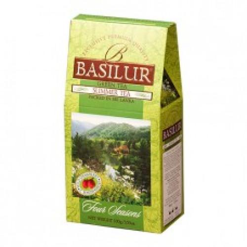 Чай Basilur картон 100г  4 сезона Летний