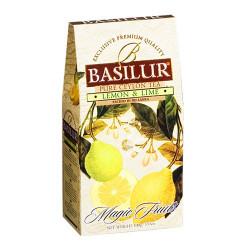 Чай Basilur картон 100г  В. фрукты  Лимон+Лайм