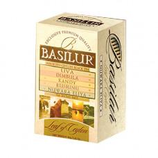 Чай Basilur картон пакет Лист Цейлона Ассорти  20 пак
