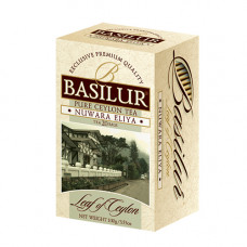 Чай Basilur картон пакет Лист Цейлона Нувара Элия  25пак