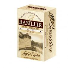 Чай Basilur картон пакет Лист Цейлона  Канди  25 пак (саше)