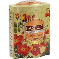 Чай Basilur 100г  В. фрукты Малина+шип ж/б