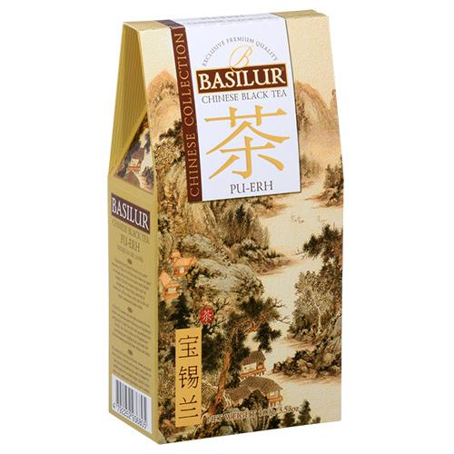 Чай Basilur картон 100г  Китайская Пу-Ер