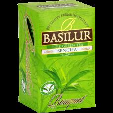 Чай Basilur картон пакет Букет Сенча  25  пак (саше)