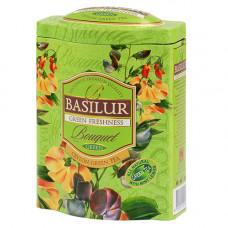 Чай Basilur 100г Букет Зеленая Свежесть ж/б