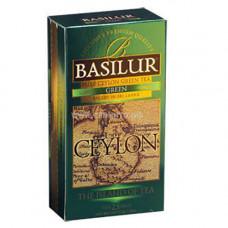 Чай Basilur картон пакет Остров Зеленый  25пак