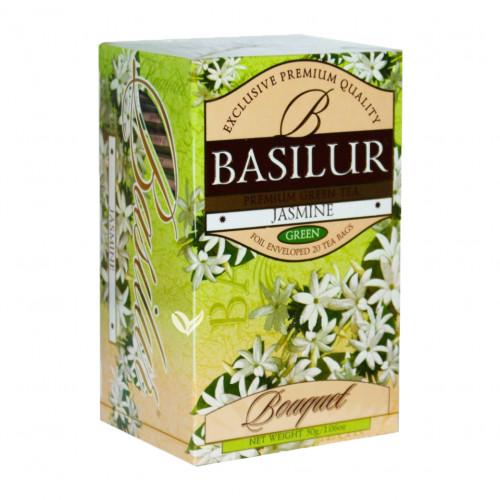 Чай Basilur картон пакет Букет Жасмин  25 пак (саше)