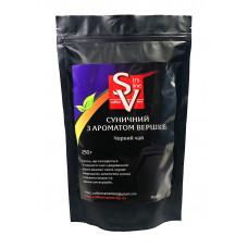 """Чай SV черный """"Клубничный с ароматом сливок"""" 250г"""