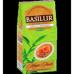 Чай Basilur картон 100г  В. фрукты  Корица с яблоком