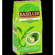 Чай Basilur картон 100г  В. фрукты Зеленый соусеп