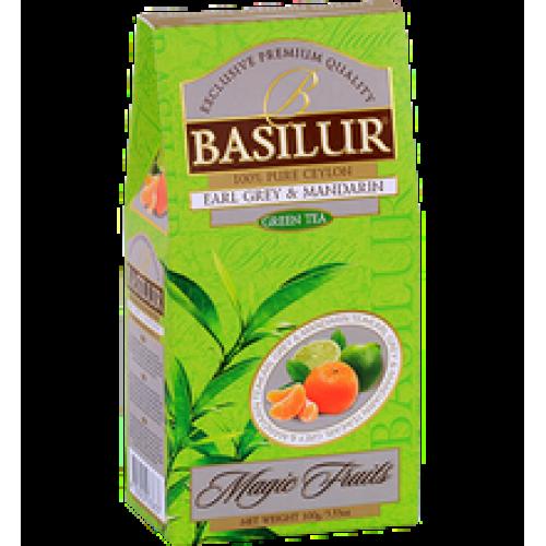Чай Basilur картон 100г  В. фрукты  Эрл Грей и мандарин