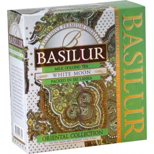 Чай Basilur картон пакет В.коллекция Белая Луна  100 пак